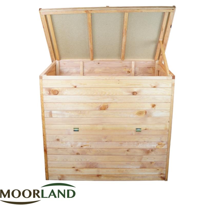 xxl gartenbox 126x119x69 auflagenbox holz truhe gartentruhe holztruhe holzkiste ebay. Black Bedroom Furniture Sets. Home Design Ideas