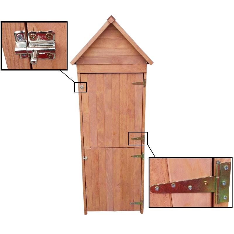 xl holz ger teschrank 192x66x47 cm ger teschuppen schuppen. Black Bedroom Furniture Sets. Home Design Ideas