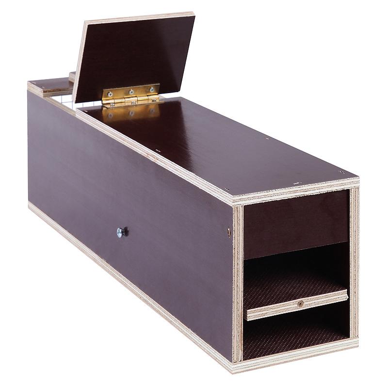 lebendfalle aus holz 50x12x15cm marderfalle fuchsfalle katzenfalle kastenfalle ebay. Black Bedroom Furniture Sets. Home Design Ideas
